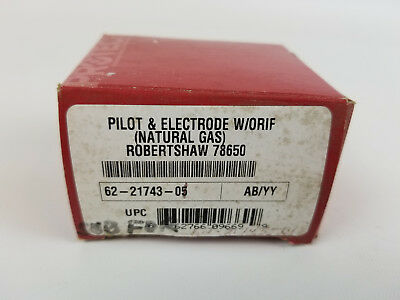 Robertshaw 78650 Pilot And Electrode With Orifice New Old Stock