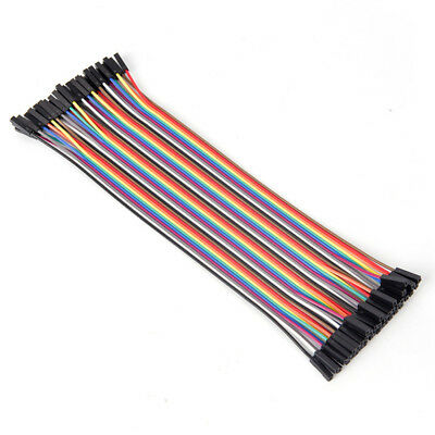 40pcs 20cm 2.54mm female to female breadboard jumper wire cable for arduino n FH