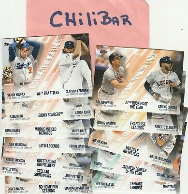 2019 Topps Series 2 Historic Through Lines Inserts  You Pick  Complete Your Set!