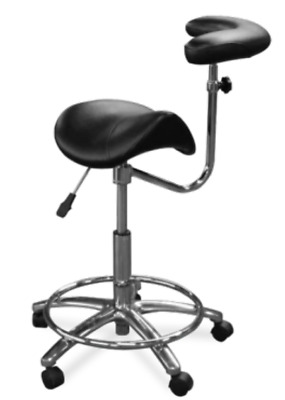 New Galaxy Model 2055-R Waterfall Assistant's Stool Fixed Foot Ratcheting Mech