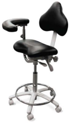 New Galaxy Model 2025-R Assistant's Stool Ergo Contoured Seat 3 Way Adjustable