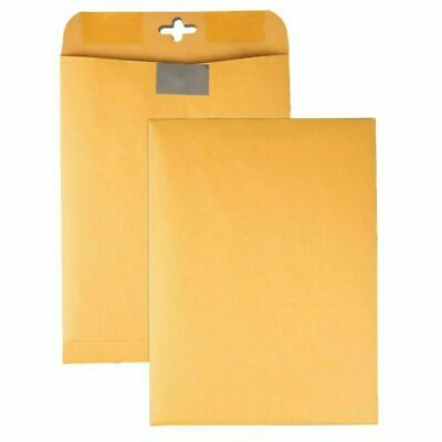 """Quality Park™ Postage Saving ClearClasp® Envelopes 9"""" x 12"""" Brown Kraft 100 Pack"""
