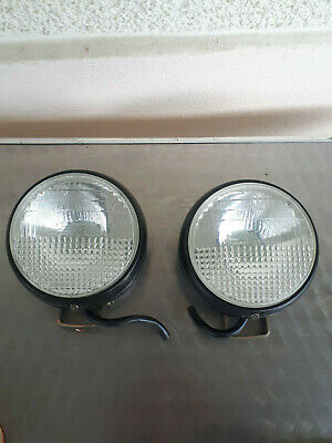 2 Anciens Phares Auteroche Diametre 13 Cm Automobile Tracteur Car Headlight Tbe