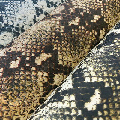 """Snakeskin Print Polyester Fabric 54/56"""" Wide 100% Polyester Sold By The Yard"""