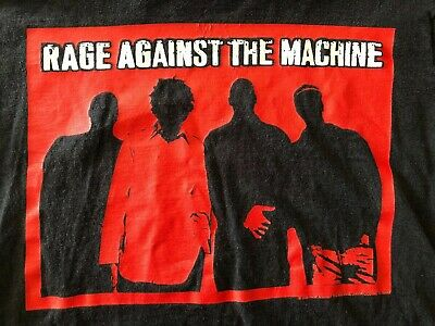 Rare Vintage 1999 Rage Against Machine Shirt Concert Tour Promo Rock Band Metal