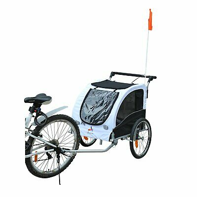 Pet Stroller Jogger & Bicycle Trailer Combo for Dogs w/ Suspension Blue Red