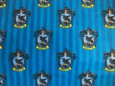 """harry potter 100/% quality  cotton fabric ravenclaw 44/"""" wide quilting crafting"""