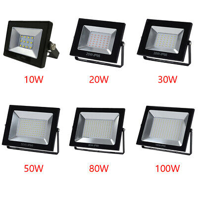 10W-100W LED Flood Light Outdoor Garden Landscape Spot Lamp IP65 220V~240V