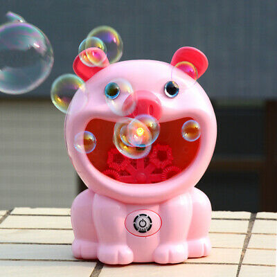 Battery Operated Automatic Bubble Machine Maker Toy For Kids Indoor & Outdoor