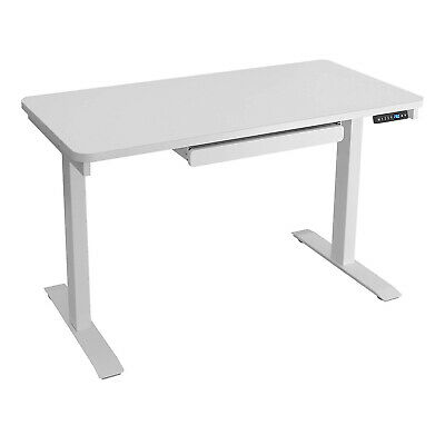 """MotionWise Electric Height Adjustable Standing Desk, 24""""x43""""x28""""-48"""", White Top"""