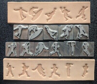 Baseball Basketball Surfing Tennis Soccer Football Skateboard 11 LEATHER STAMP
