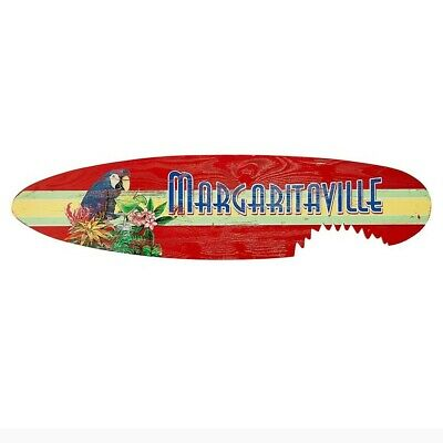 "Waterproof Land Shark Surfboard Outdoor ""Bite"" Wall Art 55"" x 11"" Pinewood New"