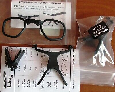 ESS Oakley URX Prescription Insert Ballistic Safety Glasses 740-0444 - New