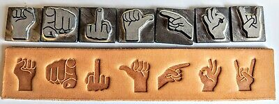 Hand & Finger LEATHER STAMP SET. NEW. JUST INTRODUCED! Limited Edition. Hurry