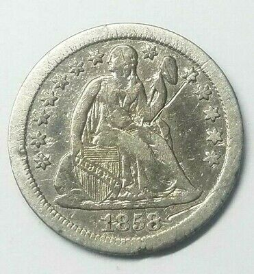 1868 S Seated Liberty U.s. 10 Cent Dime
