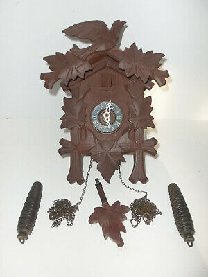 Vintage Regula Cuckoo Clock Black Forest West Germany Needs a few Parts Repair