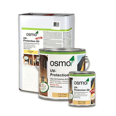 OSMO  Exterior UV Wood Protection Oil Clear 410, 420 Extra 0.75L 2.5L 10L