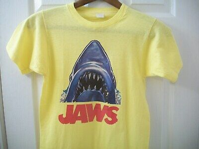 Vintage JAWS T tee Shirt XS Jaws Movie Shark Spielberg Quint Orca Boat Summer Am