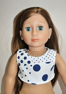 """American Girl Doll Our Generation Journey 18"""" Dolls Clothes Crop Top Only"""