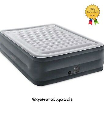 Intex Comfort Plush Elevated Dura-Beam Airbed with Internal Electric Pump, Queen