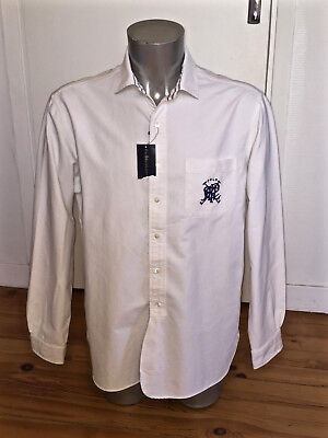 Pretty White Shirt Ralph Lauren Athletic Oxford New Size L Label