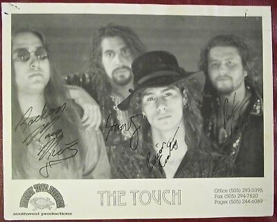 The Touch Band Promo Photo Signed by All the Band Members