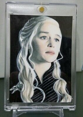 Daenerys Targaryen Emilia Clarke Game of Thrones Original Sketch ACEO Card 1/1🔥