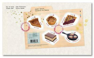 2019 Canada 🍁 SWEET CANADA Souvenir Sheet First Day Cover 🍁 Free Shipping Can