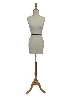 Classic female Tailors Form / Dressmakers Dummy with wooden tri-base