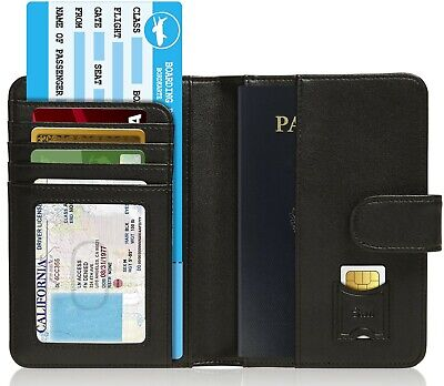 Brand New Passport Holder Cover Travel Wallet For Men & Women RFID Blocking