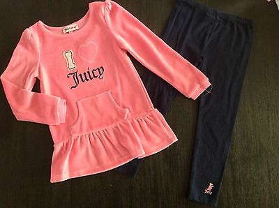 Juicy Couture 2 Pc Tunic Legging Set 4T NWT