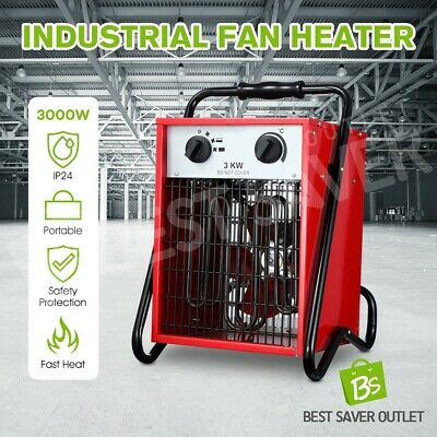 3000W Portable Industrial Fan Heater Garage Air Blower Electric Space Fast Heat