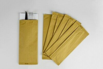 1000 Bags Cutlery of Paper 10x25 cm Carries Napkin 38x38 Paper Straw