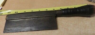 antique wood handle T SHELDON & SON TRAFALAGAR PLACE SHEFFIELD CARPENTRY SAW