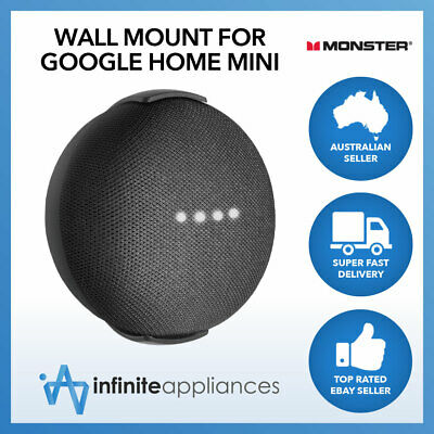 Wall Mount Stand for Google Home Mini Speaker by Monster Black White MSWM001