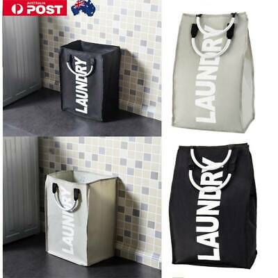 Laundry Basket 40L Fabric Clothes Bags Collapsible Hamper Foldable Washing Bin