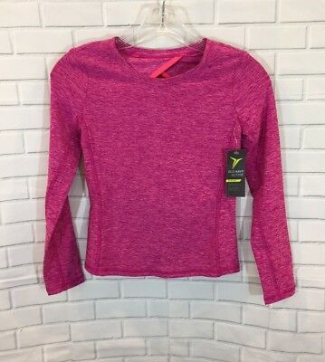 Old Navy Girl's Active Go-Dry Pink Long Sleeve Athletic Shirt Size: M (8) NWT