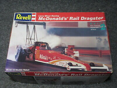 NOS SEALED CONT  7354 Revell McDonald's Rail Dragster Model Kit 1:25 *NO  Decals*
