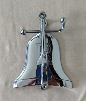 VTG Nickel Plated Brass Anchor & Bell Door Knocker - Nautical Maritime Letter P