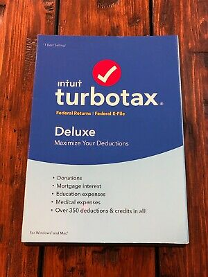 2016 Intuit TurboTax Deluxe Federal Returns Federal E-file Brand NEW Sealed