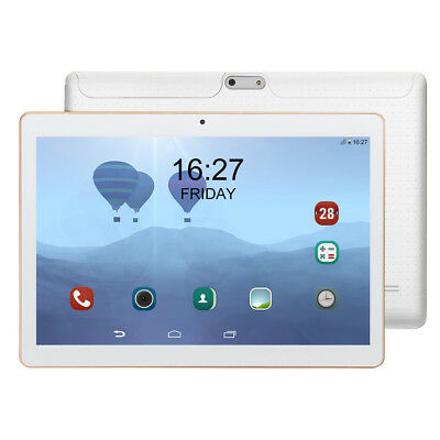"""10.1"""" Tablet PC Android 7.0 64GB Octa-Core Google WIFI Dual Camera Bluetooth UK"""