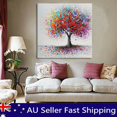 Colorful Tree Abstract Picture Canvas Print Paintings Home Wall Art Decor Framed
