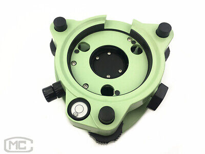 Green Three-Jaw Tribrach With Optical Plummet For Total Station Prism