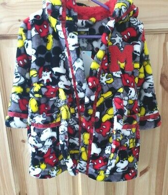 Disney Mickey Mouse Dressing Gown Size 9 - 12 Months. BNWT.