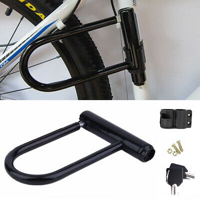 Bike D Lock Heavy Duty Bicycle U Motorbike Motorcycle Scooter Vehicle Security