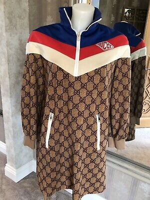 6df6a796c GUCCI 2018 TECHNICAL Jersey Gg Web Crystal Embellished Hoodie Jacket ...