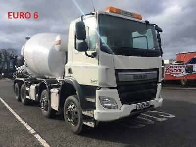2015 Daf Cf400 Euro 6 8X4 Concrete Mixer 8/9 Metre Barrel, Baryval Equipment,