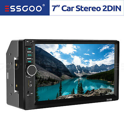 "7"" Autoradio Bluetooth Stereo Lettore MP5 USB AUX Mirror Link 2 DIN Touch Screen"
