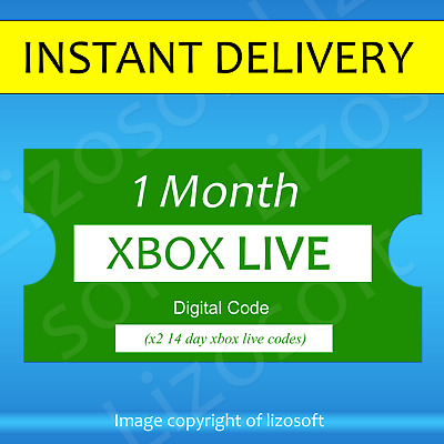 Xbox Live Gold 1 Month Worldwide Membership (2x14 Day) - INSTANT DELIVERY