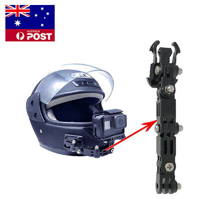 AU Motorcycle Full Face Helmet Front Chin Mount for Gopro Hero 6 5 Action Camera